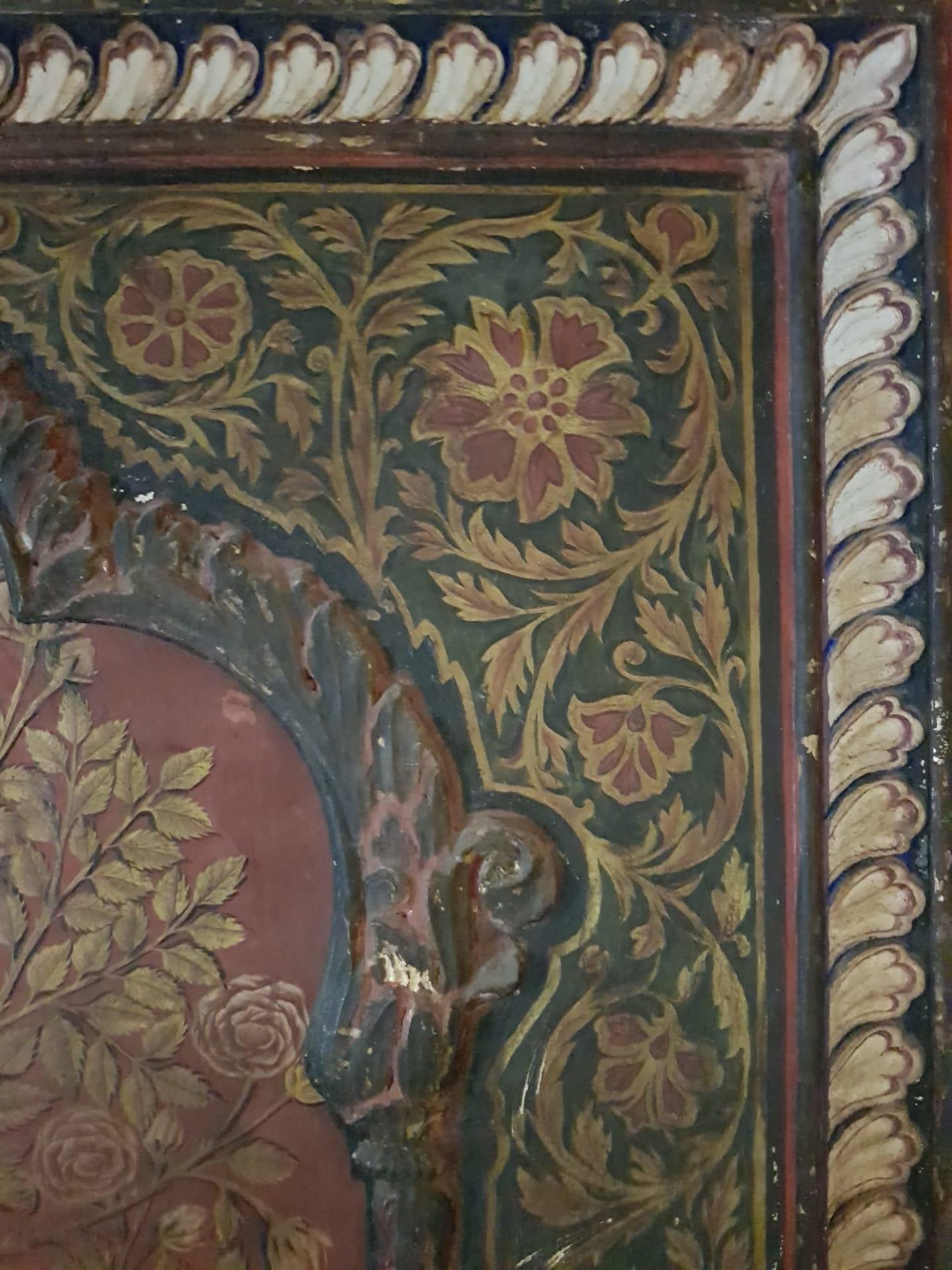 Painted palace walls, Mysore