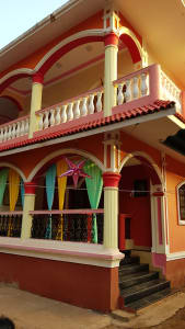 Colourful Goan home