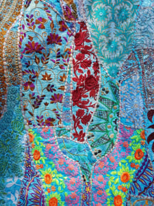 Colourfully embellished indian textiles