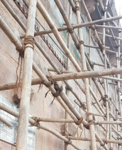 Natural materials scaffolding