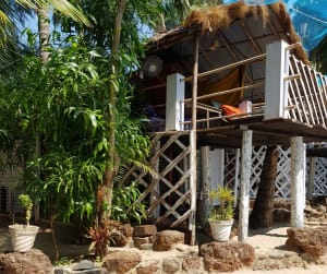 All natural materials beach hut
