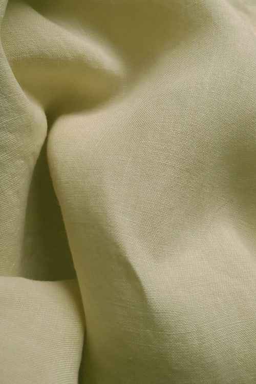 close up of linen hand dyed Dylon sandy beige