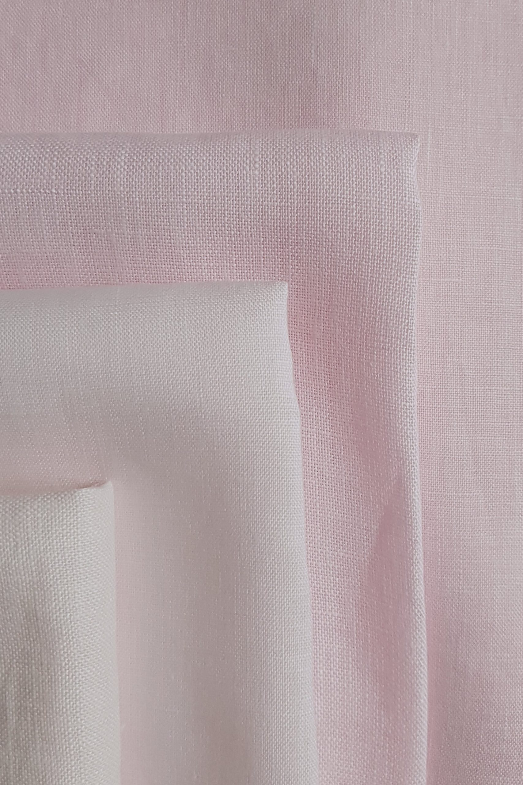 shades of Dylon peony pink on Cut Couture linen hand dyed