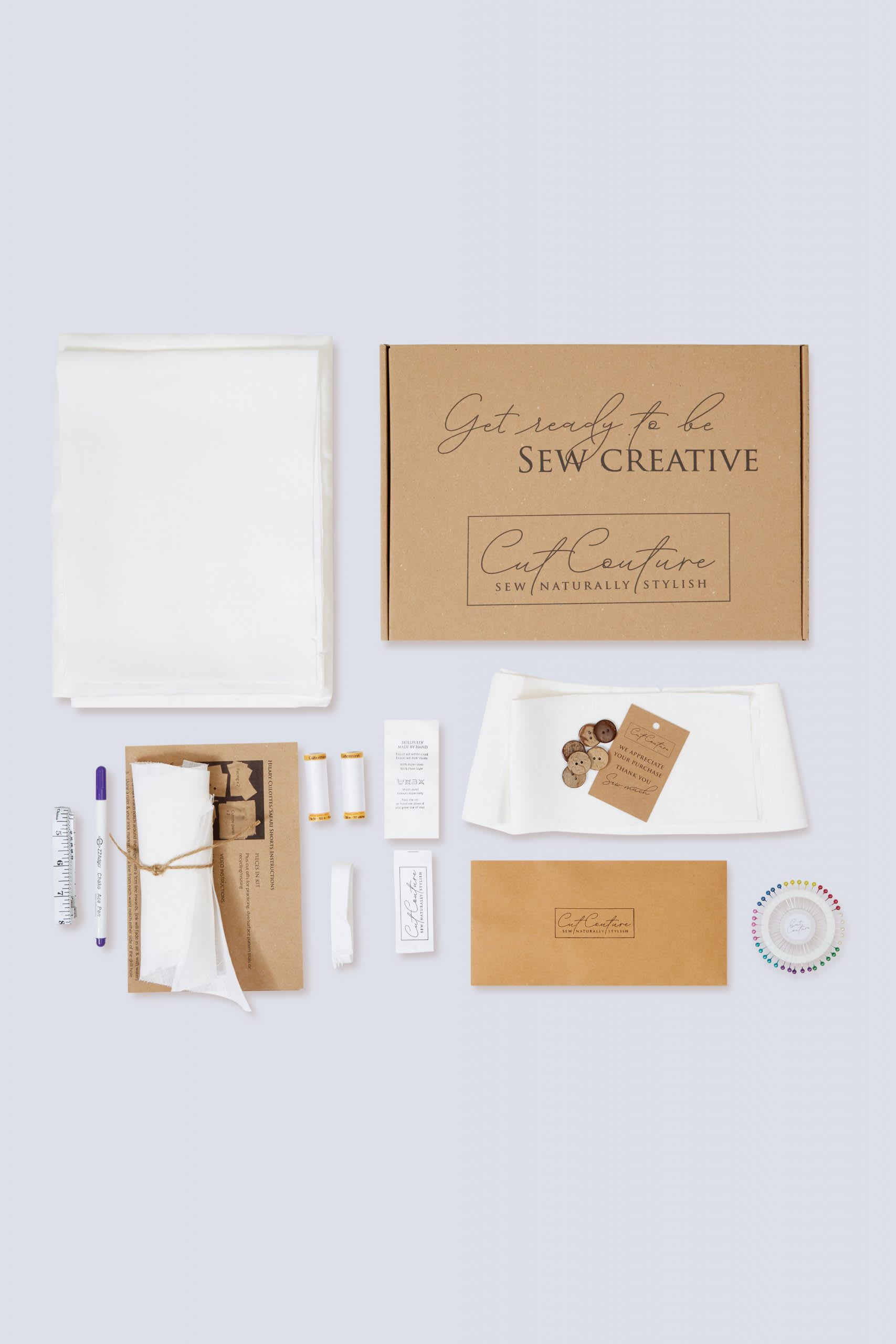 Cut Couture Hilary culottes sewing kit contents and packaging