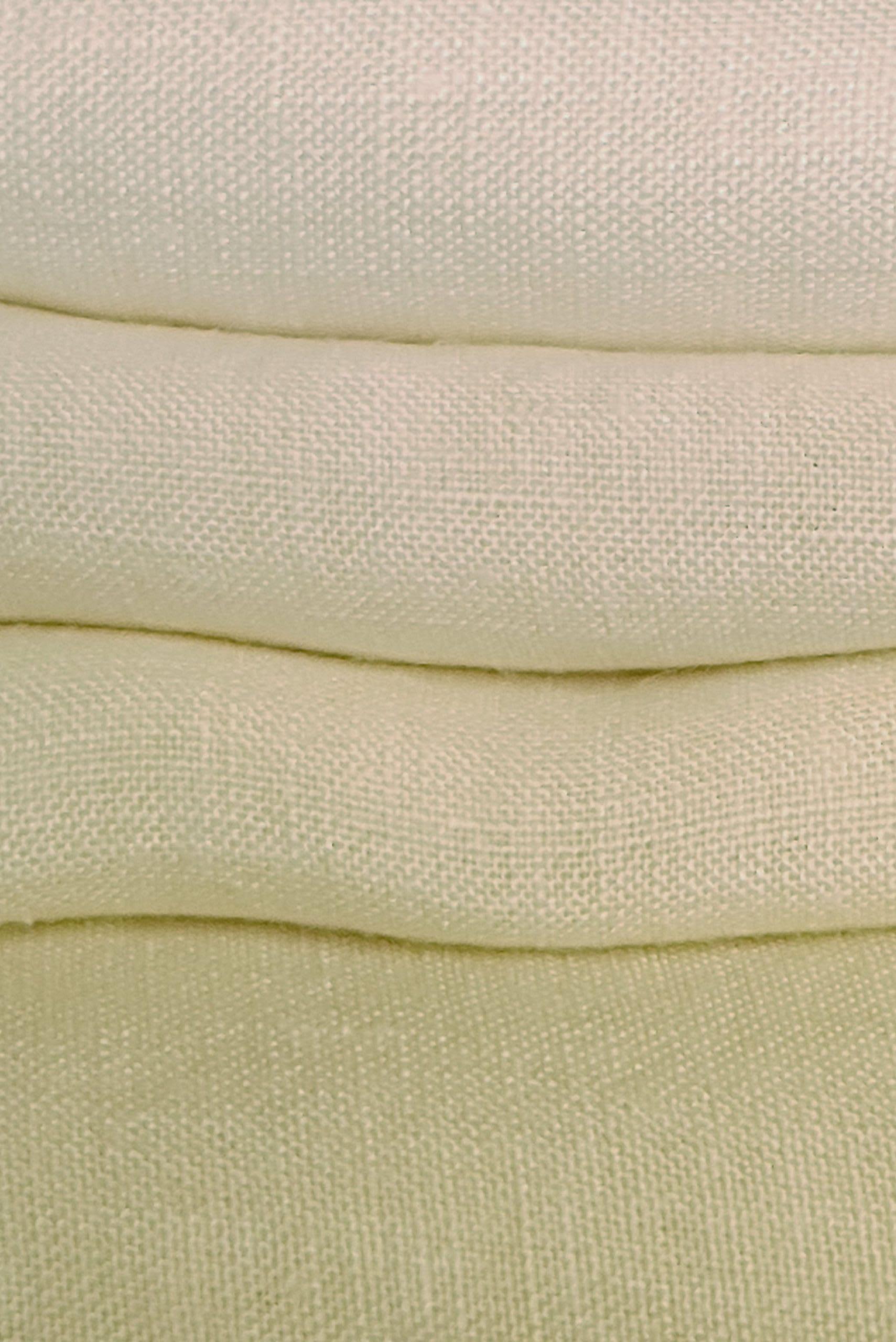 detail of linen hand dyed Dylon sandy beige