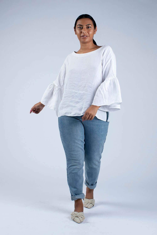 white linen blouse Hannah
