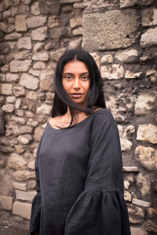 black linen blouse by Cutcouturekit