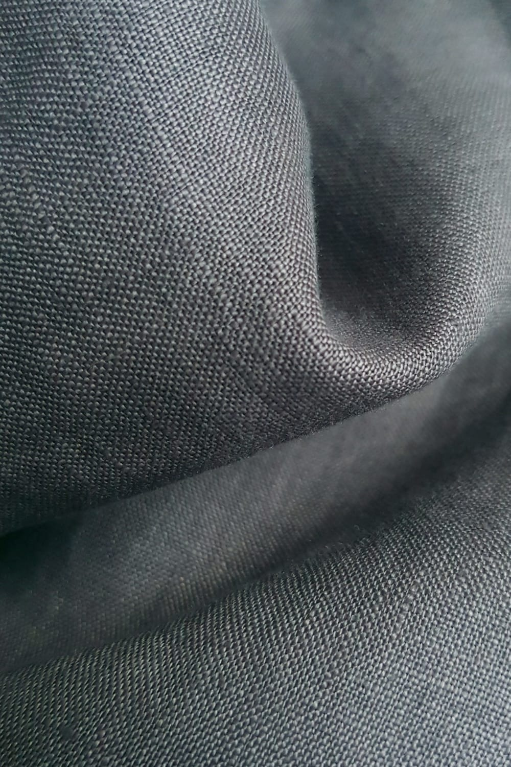 Dylon smoke grey on Cut Couture linen hand dyed