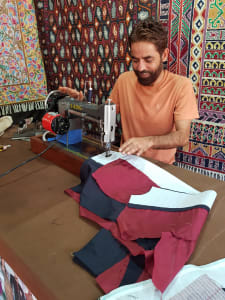 Tailor making jacket in Goa