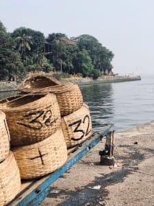 Fish baskets Sasoon Docks