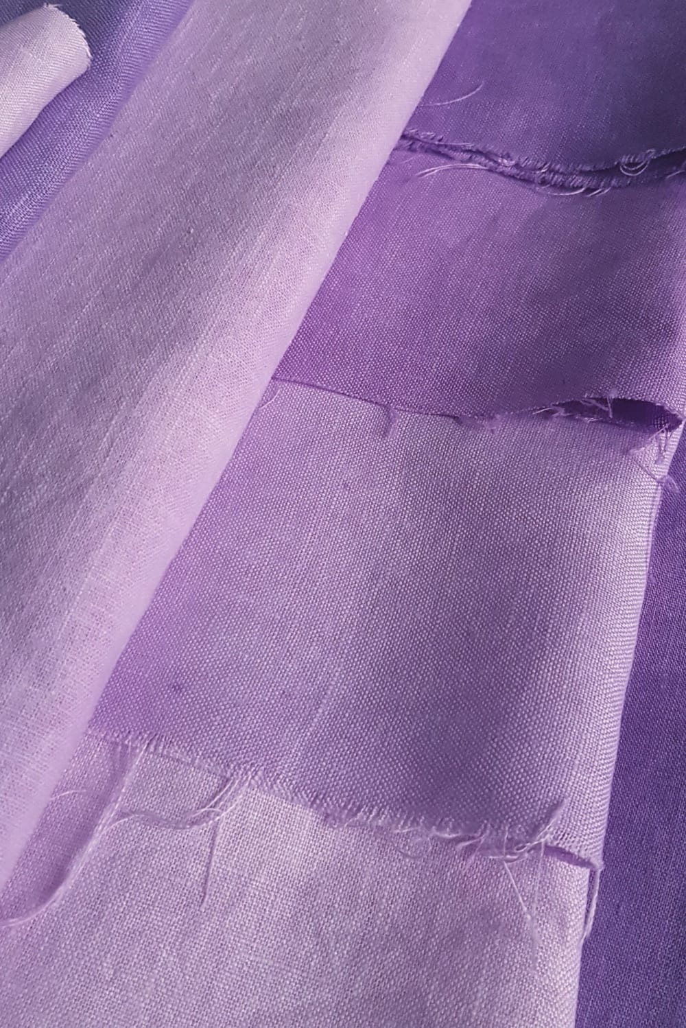 Deep Violet shades on Cut Couture linen hand dyed