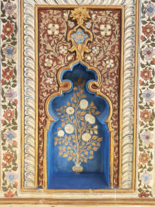 Mysore Palace painted alcove