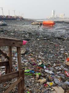 Raw sewage Mumbai shores