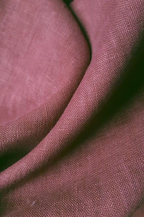 Close up of Plum Red linen