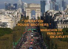 Opération Pouss' Brothers - Marathon de Paris 2017