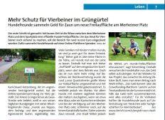 Einzäunung Hundefreilauffläche Köln, Merheimer Platz