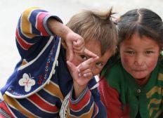 Enfants de l'Inde et du Népal