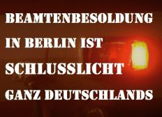 Verfassungsgemäße Alimentation für alle Berliner Beamte