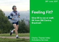 BSSC Charity 5K, Thames Valley Ambulance