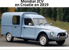 Mondial 2cv Croatie 2019 en Acadiane aménagée