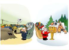 Plus facile d'écrire au Père Noël qu'aux réfugié.e.s