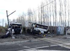 Enfants accident Millas bus/train
