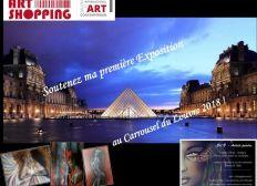 Soutenez CEL.B - Artiste peintre Nantaise - Au Carrousel du Louvre