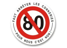 stop au 80 km/h