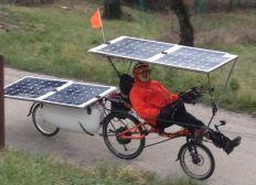 Trajet à vélo solaire - Lyon-Canton juin-août 2018