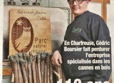 Soutien Don pour aider le dernier fabricant Français de cannes et bâtons de randonnées en châtaignier ( Ets BOURSIER ) et pour sauver son Savoir-Faire artisanal, familial datant de 1898