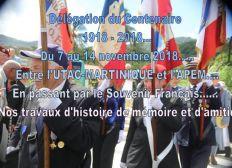 Départ en Délégation du Centenaire Verdun avec l'UTAC-MARTINIQUE