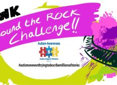12 week round the rock challenge - proceeds to Autism Support Group