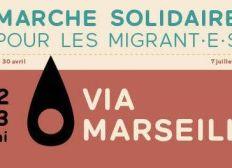 Caisse étape Marseille de la Marche Roya-Calais