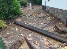 Hochwasser in Isenburg