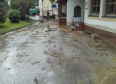 Sanierung eines Lokals nach einen Hochwasserschaden