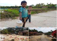 Werkzeug und Hilfsmittel für bedürftiges Dorf in Siantar