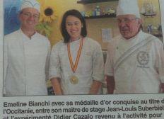 Emeline représentante Occitanie aux Olympiades des métiers 2018 - Pâtisserie