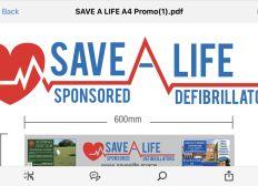 Save a Life Sponsored Defibrillators