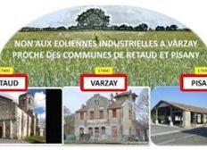Non aux éoliennes à Varzay en plein cœur de la Saintonge Romane