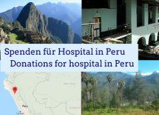 Spenden für Hospital in Peru
