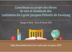 Voyage scolaire en Grèce - 03 au 07 février 2019