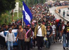Ayuda para caravana de migrantes Hondureños