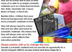 DONATE A SCHOLASTIC MATERIAL FOR A NEEDY CHILD