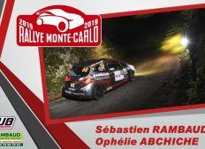 Rallye Monte-Carlo 2019 RAMBAUD - ABCHICHE