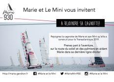 Marie et le Mini partent sur la Transat' 2019!