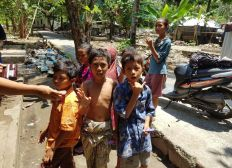 Hilfe für Erdbebenopfer in Lombok