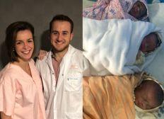 C'est parti en Ethiopie : une blouse blanche et une blouse rose dans une maternité !