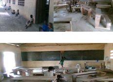 Projet de rénovation (badigeonnage et réfection des tables bancs) de quatres salles de classe: