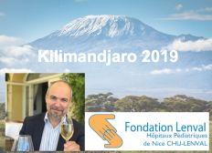 Olivier gravit le Kilimandjaro en faveur de l'Hopital pour enfants Lenval, Nice