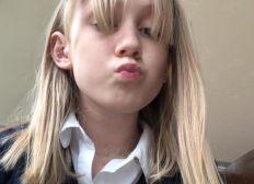 Izzi's hair donation